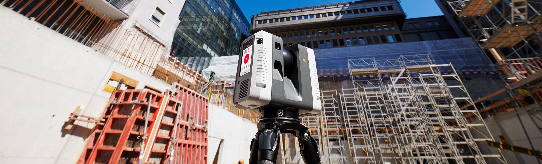 Leica RTC 360 3D-Scanner im EInsatz beim Baustellenaufmaß